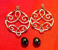 Wirework tutorial: Hammered & Bound Two-Tone Dangles