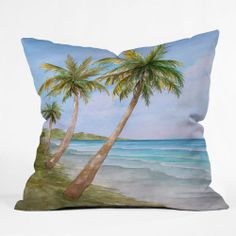 Rosie Brown Swaying Palms Cushion Cover by DENY Designs (USA) on POP.COM.AU #throwpillow #pillow #homedecor #pop #denydesigns