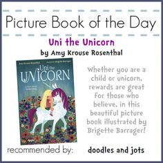 Did you know that, generally speaking, unicorns they don't believe in us either?! Click through for #PBOTD review and unicorn craft...