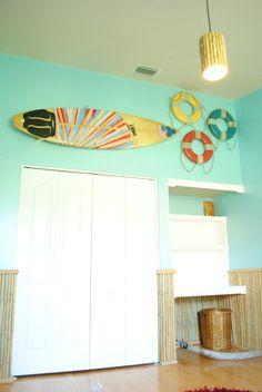surf shack bamboo - boy nursery