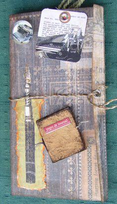 Writers and author's mini album, journal, portfolio using Graphic 45, 7 Gypsies, K and more
