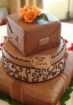 unique wedding cakes with chocolate
