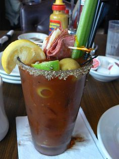 Bloody Mary (almost a meal), Eleven City Diner, Chicago