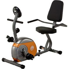 Marcy ME-709 Recumbent Exercise Bike --- good option for people with arthritis in their tailbone ... especially comfortable seat for larger people.  Arm rests make longer periods of exercise time more comfortable