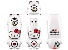 Hello Kitty ♥s Animals - White Tiger MIMOBOT® white tigers, tiger mimobot