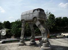 VW Volkswagen Bus Star Wars AT-AT Walker, via madebyross