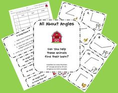 FREE - This center can help your students identify and sort the following types of angles:  acute, right, and obtuse.