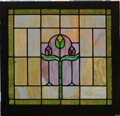 "Stained glass window  31 7/8""w x 30 5/8""h  Price: $695.00"