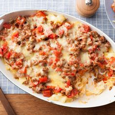 Beef and Cheddar Casserole