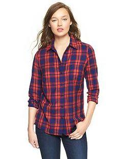 Fitted boyfriend plaid shirt | Gap  $54.95 - 11/01/13