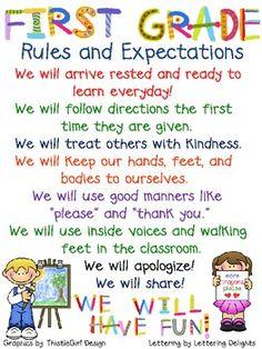 First grade, tenth grade...still important