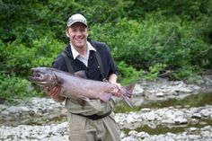 US Ski Team athlete Marco Sullivan king salmon fishing in Alaska behind the scenes of Flow State. warrenmiller.com