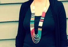 a bit of sunshine: make something monday :: a knock off necklace