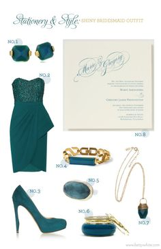 Stationery & Style: Shiny Bridesmaid Outfit