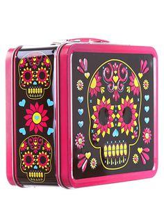 skull lunchbox, sugar skull