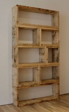 Rustic shelving - can see it sanded and clear treated or dark stain or even primary colours painted for kids stuff...