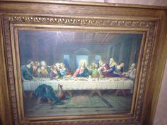 Vintage last supper 14x12 frame. $20.00, via Etsy. www.etsy.com/shop/shabbyciccalifinds last supper, supper 14x12, 14x12 frame