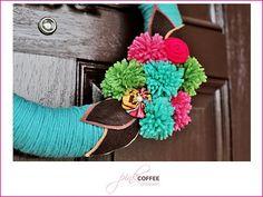 yarn wreath.