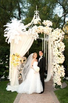 poppy flower chuppah as seen on @stylemepretty  http://www.themodernjewishwedding.com/monday-morning-inspiration-tradition-unveiled/