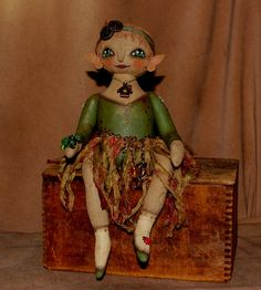 WOODLAND fairy doll~available on etsy ON SALE NOW  http://www.etsy.com/shop/robinseeber