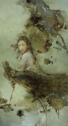 Chinese art painting Hu Jun Di