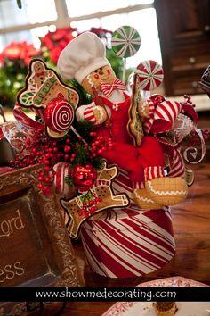 Gingerbread Man Centerpiece