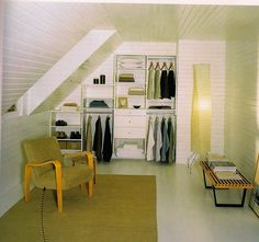 make use of space: turn your attic into a closet