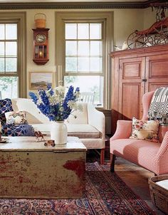 decor, living rooms, color, coloni, farmhouse living, cottag live, live room, countri, country