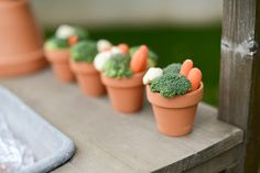 Cute veggie pots at a Mother's Day party #mothersday #party