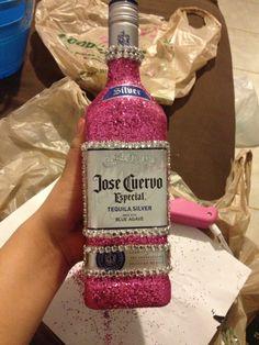 Bedazzled Liquor Bottle