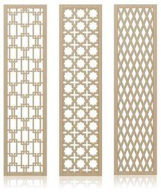 Crestview Doors decorative, midcentury-style wall screens / room dividers