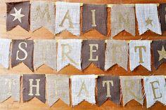cricut iron on, banner idea, street theatr