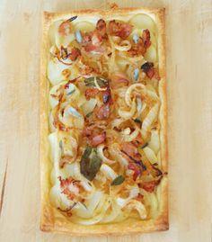 Tarte de batata e bacon. Veja a receita no site: http://www.batatasdefranca.com/receitas/entradas.html#!prettyPhoto[tarte_batata_bacon]/0/  #Batata #Receita #Comida #Entradas #Batatas #Cozinhar #tarte #bacon