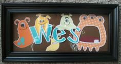 Monster cocalo peekaboo name sign customized WITH by ElainesCrafts, $30.00