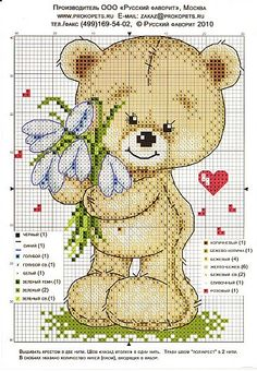 Punto cruz... Ponto cruz... Point de croix... Punto Croce... Cross stitich... Kreuzstitch...: ursinhos bear teddy