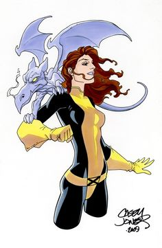 Kitty Pryde and Lockheed.