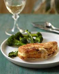 Cheese-Stuffed Chicken Cutlets with Mustard Sauce - everything is better with cheese right?