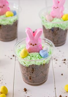 Bunny Dirt Cups kid projects, dirt cup, dessert