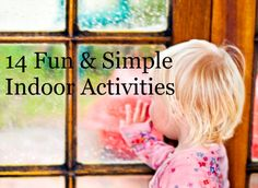 14 simple indoor activities that only require things most people have around the house. 14 simpl, indoor kid activities, indoor activities, activities for kids, 14 fun, indoor fun, simpl indoor, popsicle stick crafts, kid stuff