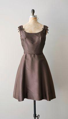 vintage 1950s Ganache Truffle dress    #retro #partydress #romantic #feminine #fashion #vintage #designer #classic #dress #highendvintage