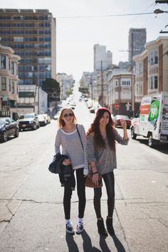 Me and Adria's first day in San Francisco, we walked around town with Bailey and he took awesome photos like this one.