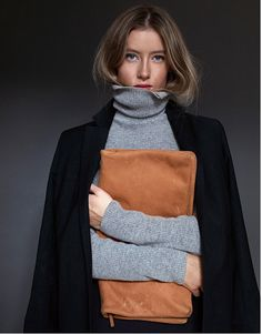 camel and gray turtl, camel, winter, color combos, clutches, bag, stapl, tan, style fashion