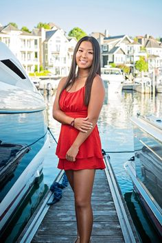 A senior portrait session at Bay Harbor in northern Michigan