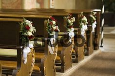 flower arrang, benches, wedding flower bouquets, churches, candles