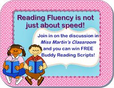 Fluency is Not Just About speed! Great fluency resources.