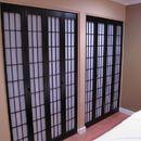 Bi-Folding shoji closet doors