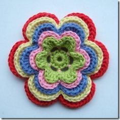layered crochet flower tutorial