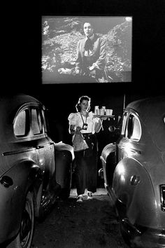 Drive-in theater, San Francisco, 1948. ☚