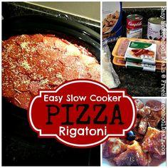 Easy Slow Cooker Pizza Rigatoni
