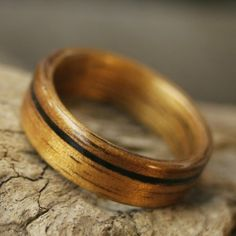 These wooden rings are sweet!